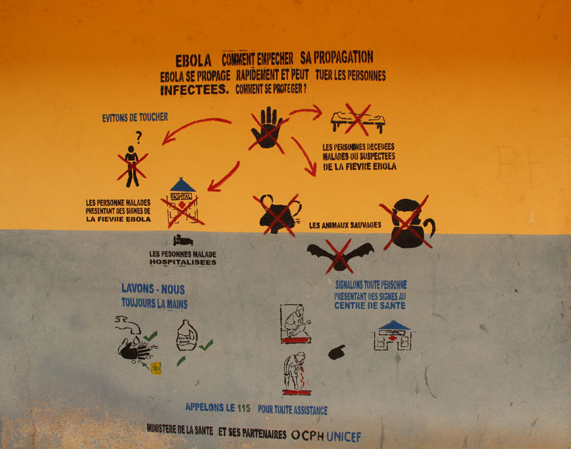 Ebola prevention mural in Guinea