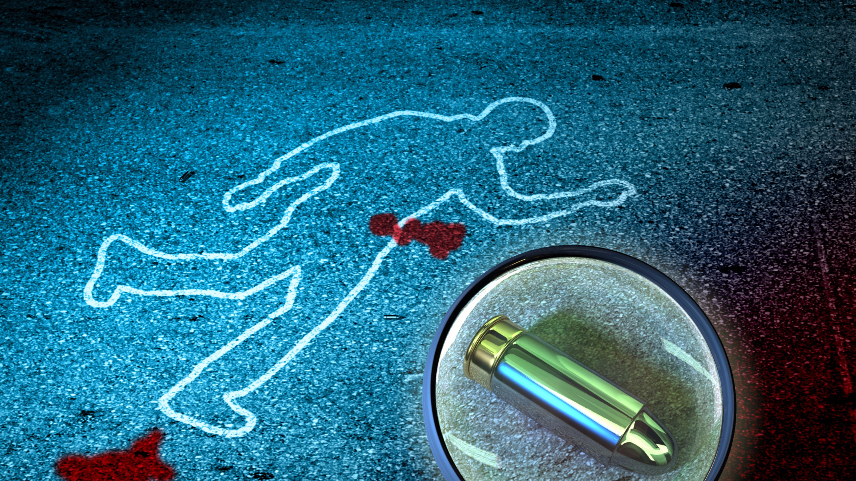 Crime scene chalk outline
