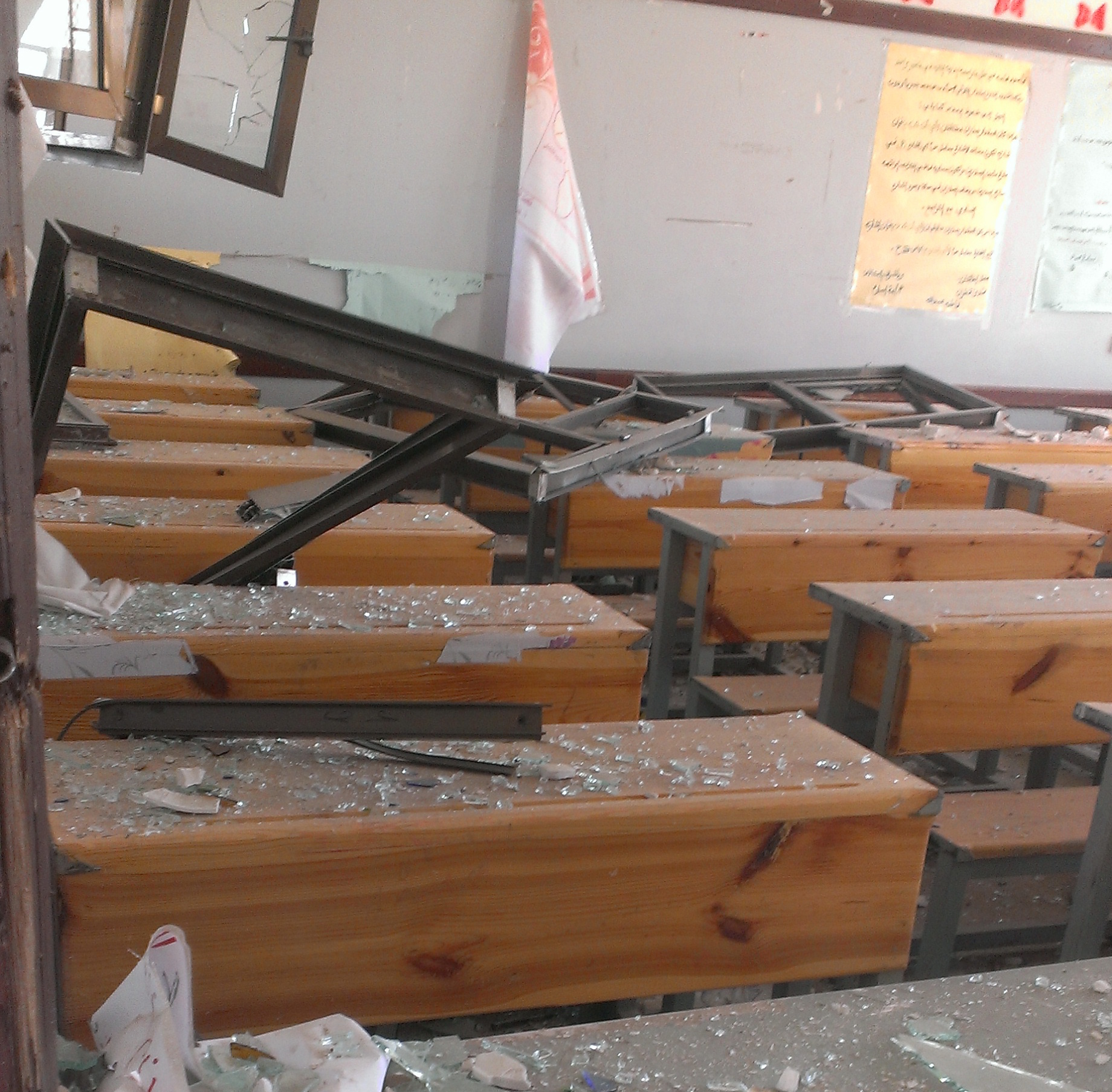 Ibn Sena school in Faj Attaan district, Sanaa, after being hit by an airstrike in May 2015