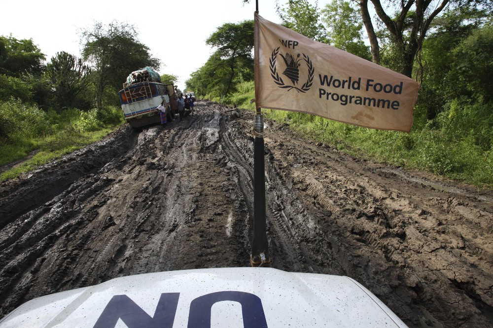 According to the United Nations World Food Programme (WFP), there are 5,000 trucks, 70 aircraft and 20 ships delivering WFP food assistance around the planet at any given time.