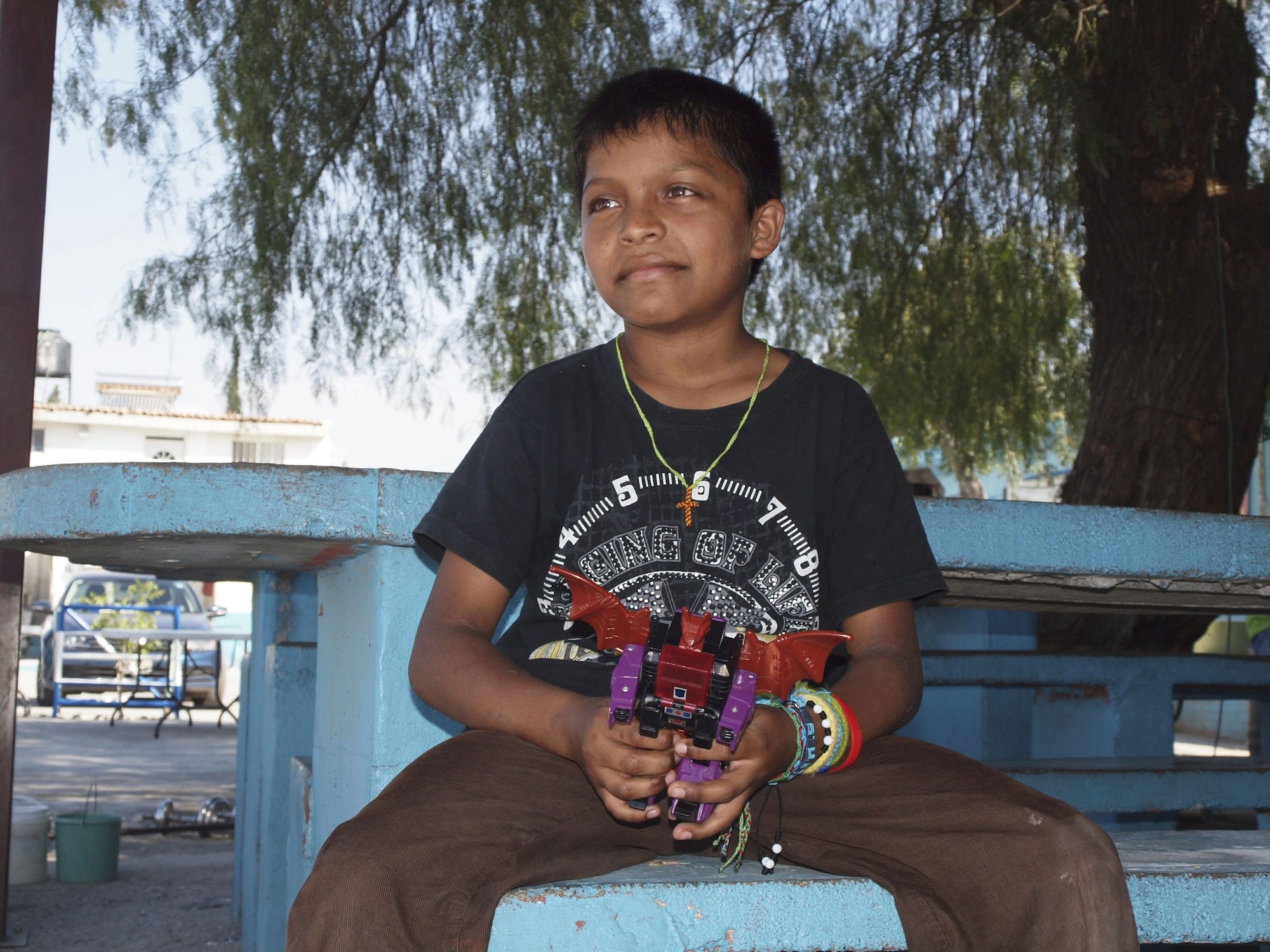 Eleven-year-old Allan's older brothers were slain by drug gangs in Guatemala. An influx of child migrants at the border last year has resulted in record numbers of minors being detained in Mexico.