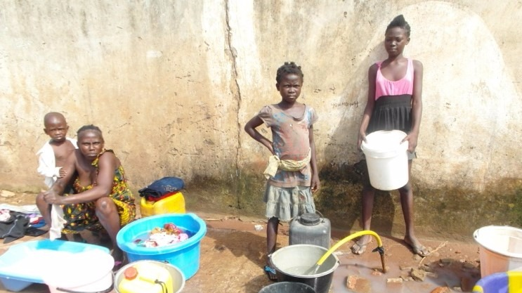 Lack of clean water is a major concern in the Central African Republic.