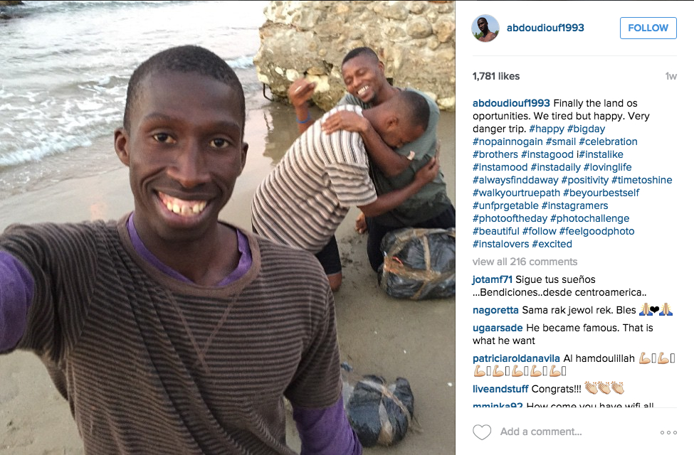 Photo shared in 'Instagram migrant' hoax of arriving safely in Spain