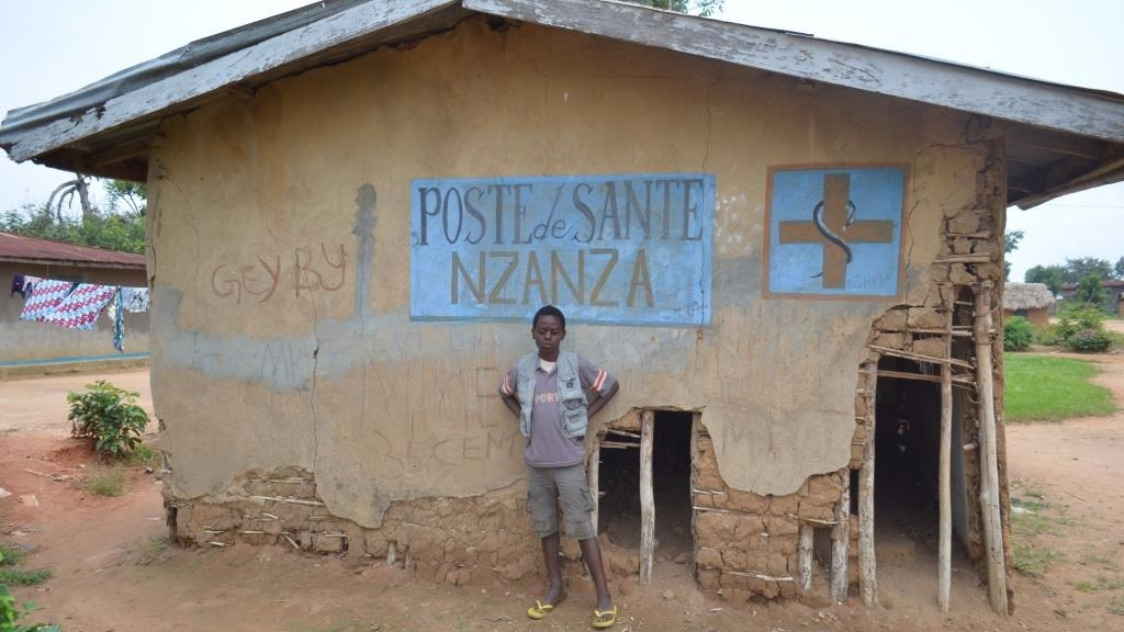 A health post in Nzanza in Beni territory of eastern Democratic Republic of Congo's Nord Kivu province