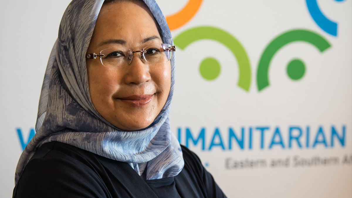 Dr. Jemilah Mahmood, Chief of the World Humanitarian Summit Secretariat with more than 15 years of experience working in disaster affected countries