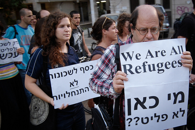 Anti racism protests in Tel Aviv in 2012