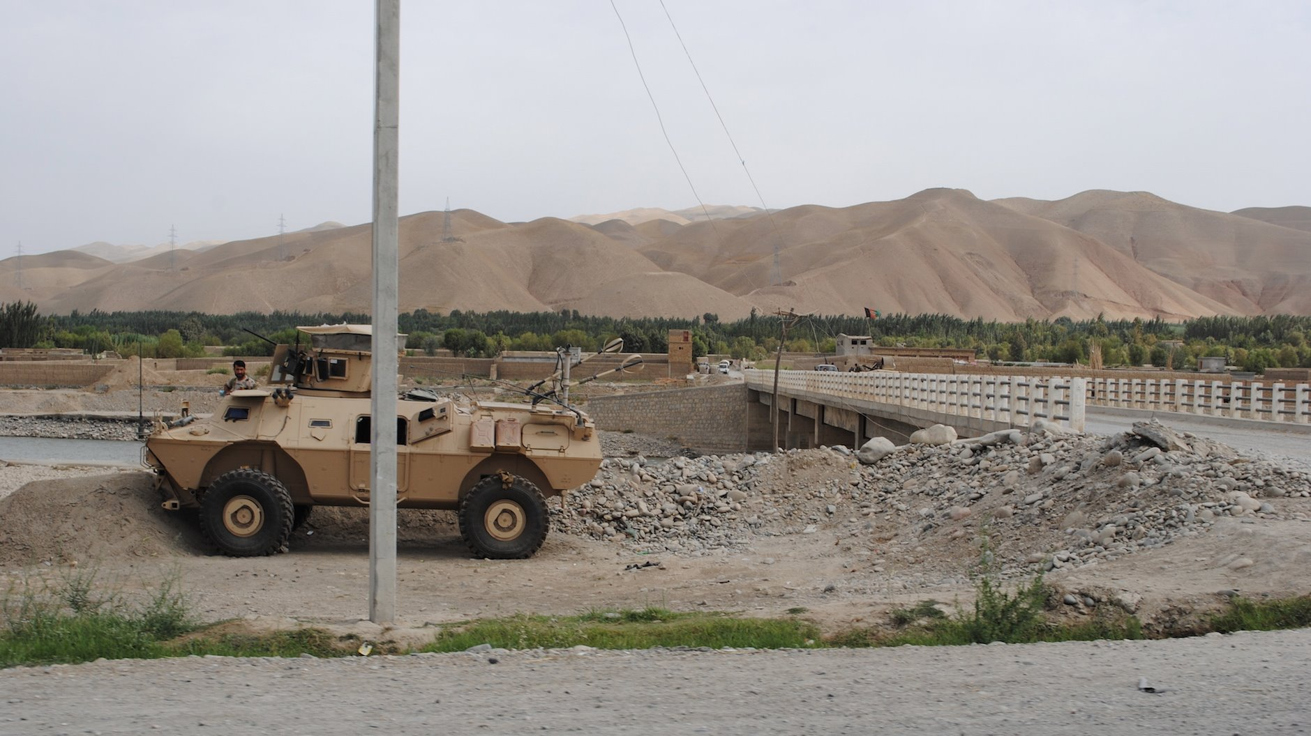 The Taliban has taken territory in Khanabad district in the Afghanistan province of Kunduz on the other side of a bridge pictured here in August 2015