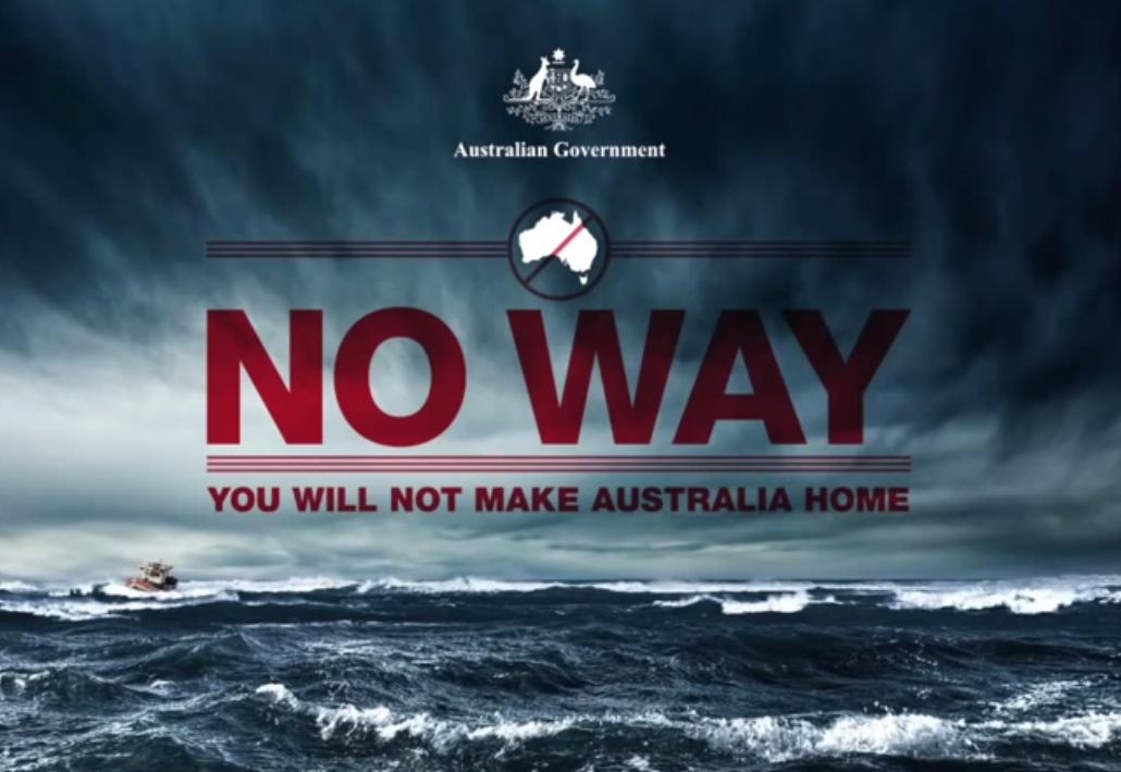 Australian government campaign poster aimed at deterring asylum seekers