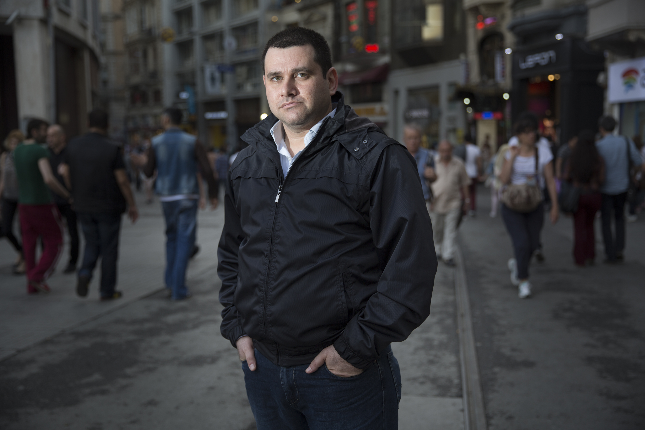 Aboud Dandachi, a Syrian blogger and refugee, who lives in Istanbul