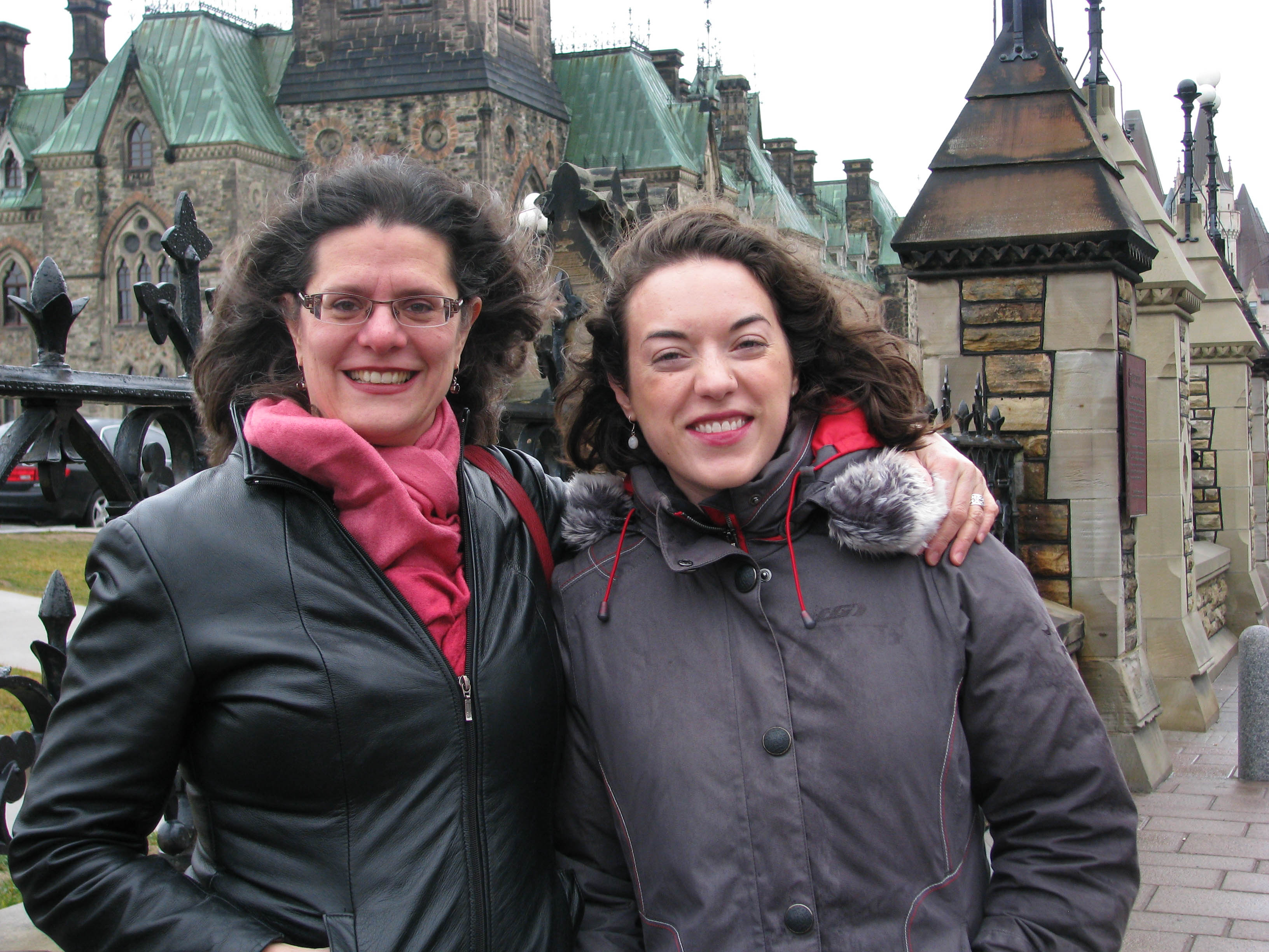 Jacqueline Couture (left) and Deidre Kelly are part of group of individuals that are sponsoring a Syrian family to resettle in Ottawa, Cananda
