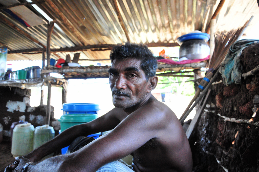 Former Tamil Tiger Sivalingam Ruvendradass, pictured in December 2015, has been jobless since returning to Vallipuram in Sri Lanka after his release from a government run