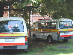 [South Africa] Ambulances at hopsital