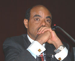 [Ethiopia] Meles Zenawi at coffee conference.