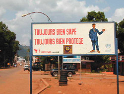 [Central African Republic (CAR)] UNDP-sponsored HIV/AIDS awareness campaign in Bangui (taken July 2002)
