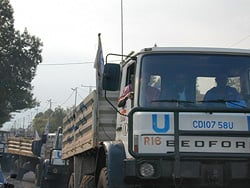 [DRC] WFP trucks delivering aid to Goma residents
