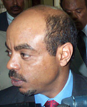 [Ethiopia] Meles Zenawi speaks to the media after meeting with the Security Council.