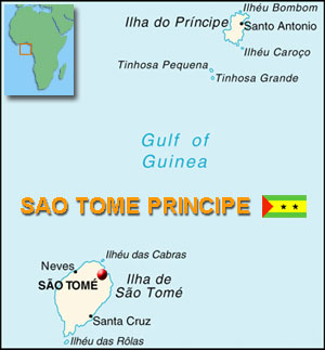Map of Sao Tome & Principe