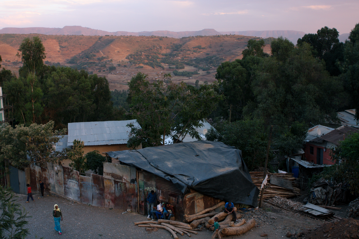 Outskirts of the city of Gondar, in the northern Ethiopian Amhara region