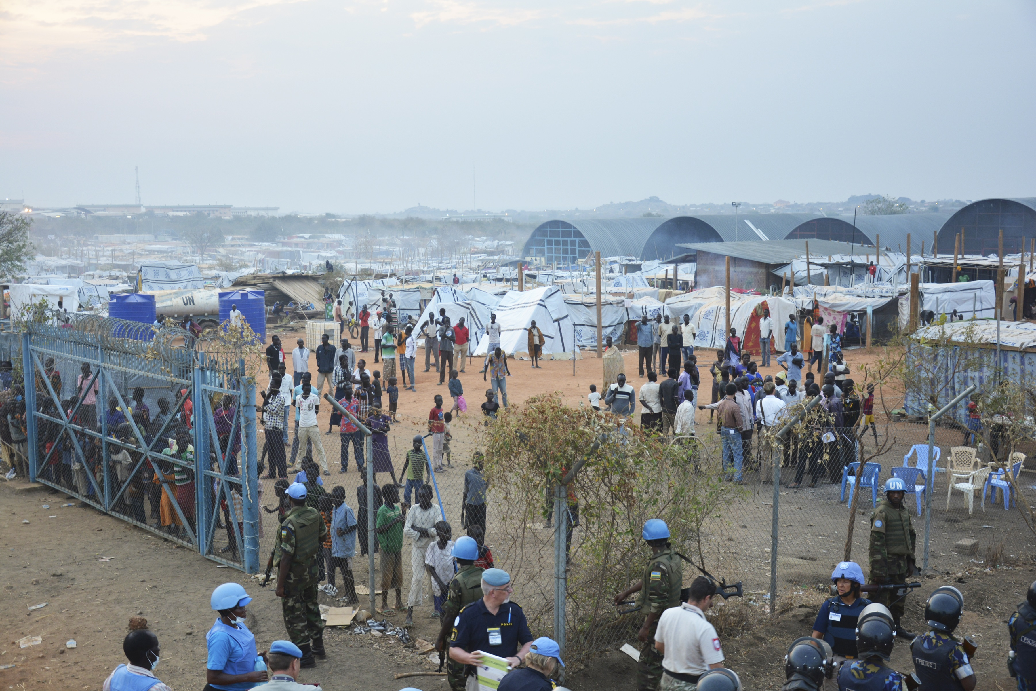 UN House IDP PoC camp in Juba