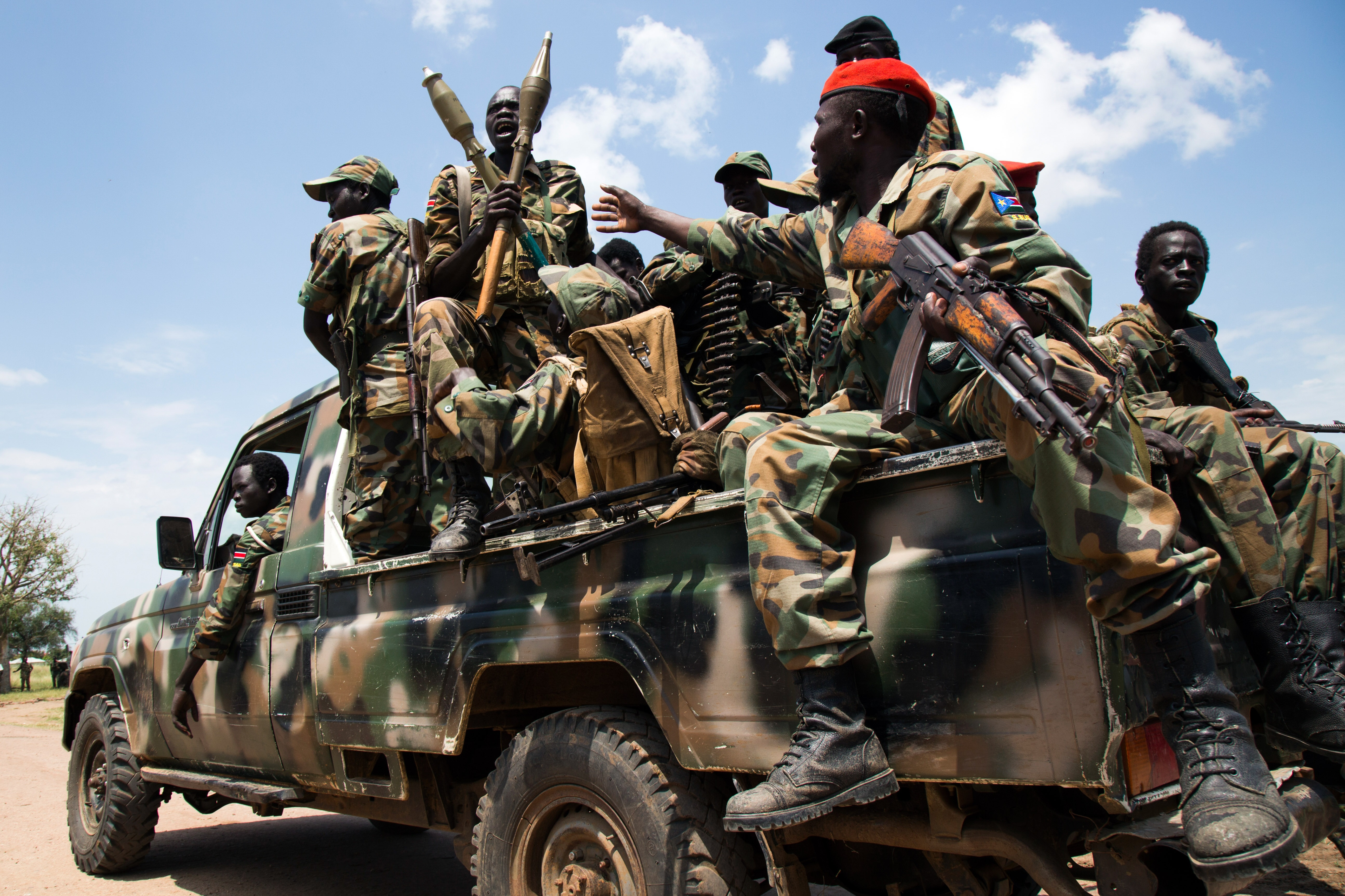 Victorious SPLA soldiers