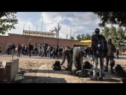 Migrants arrested by Greek police