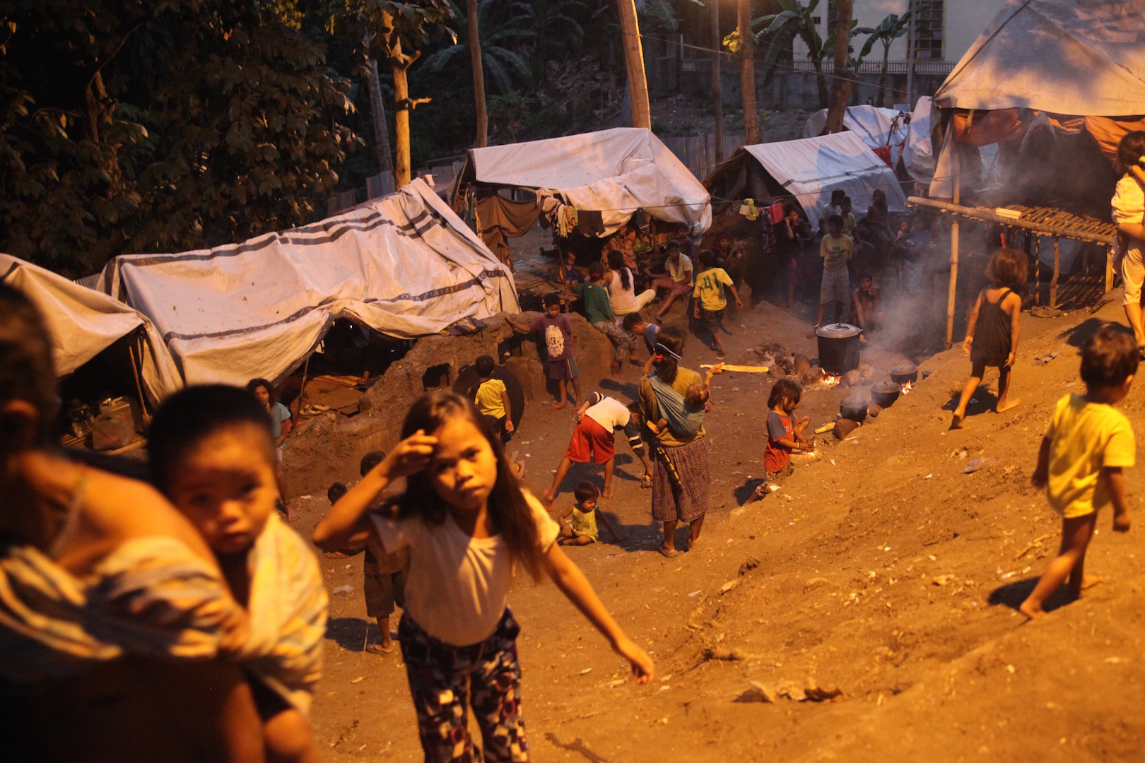 Displaced indigenous people in Davao City