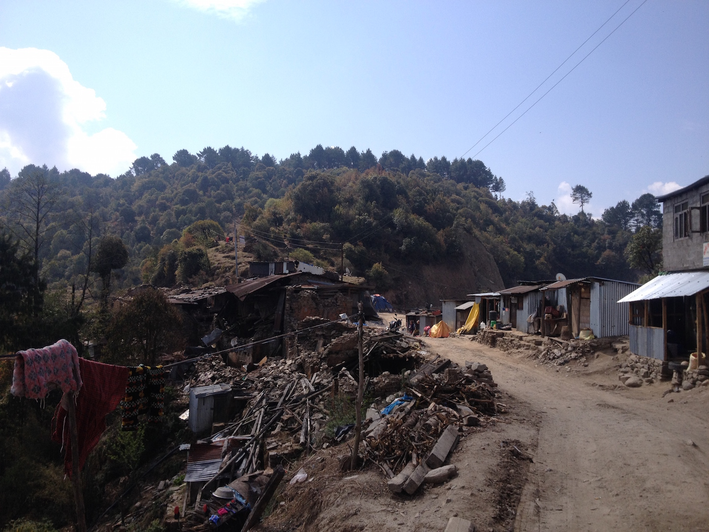 Rubble from Nepal's earthquake
