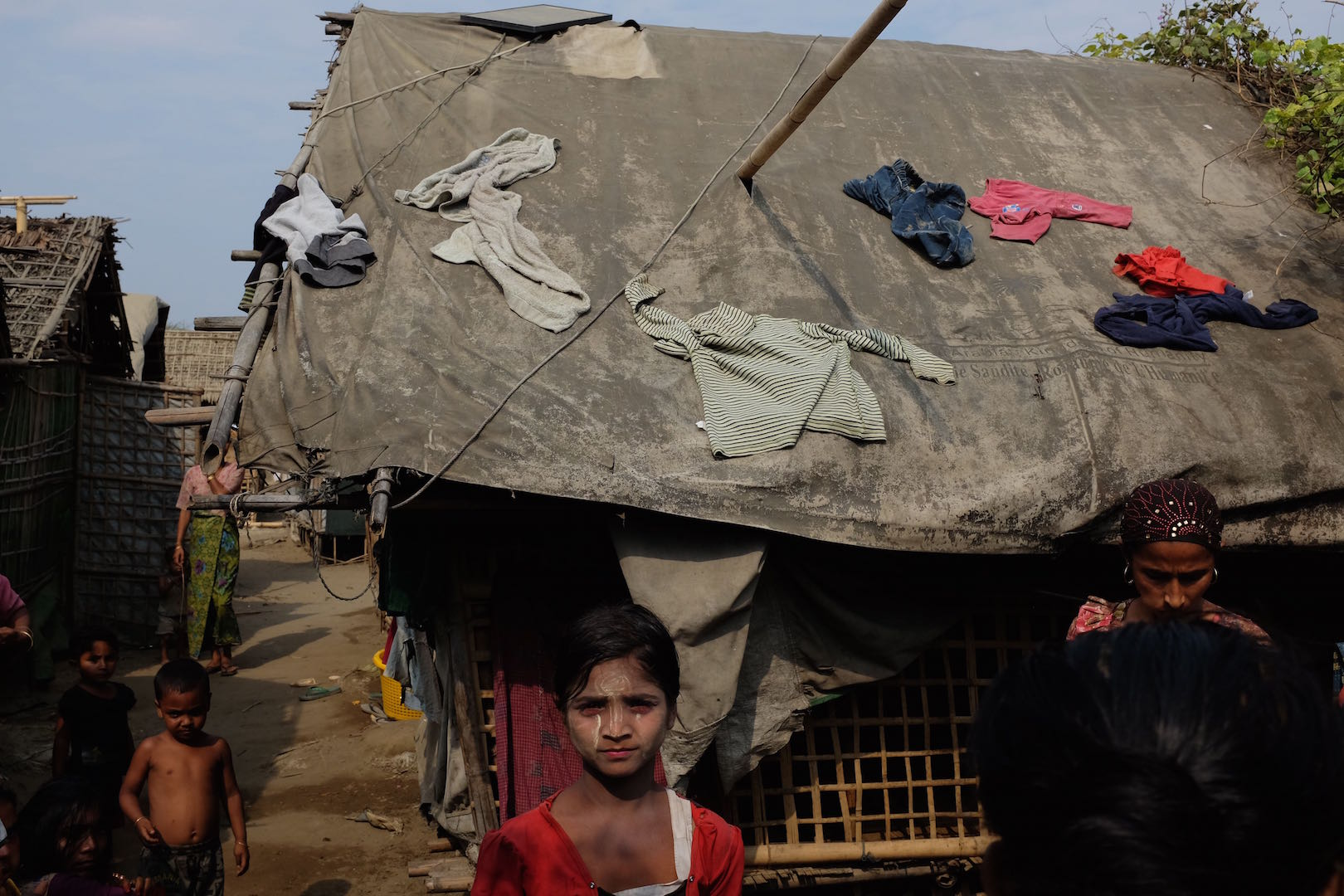 A camp near Sittwe, Myanmar, for Rohingya displaced by violence in 2012