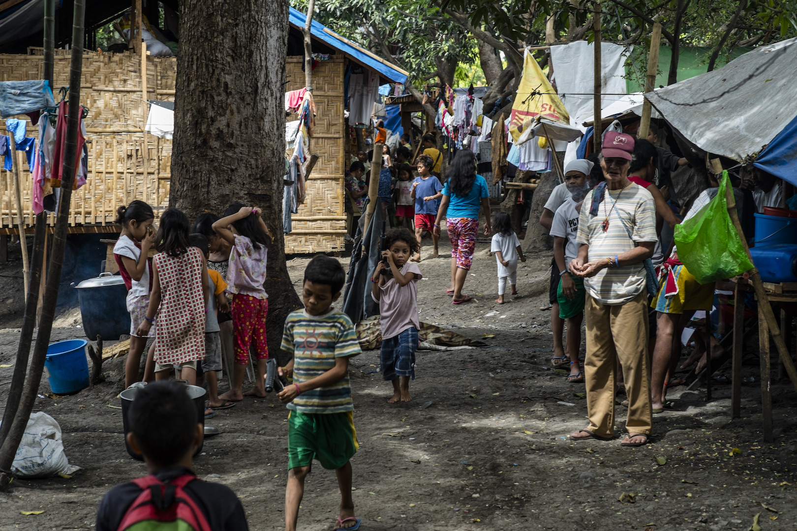 A camp in Davao for indigenous people displaced by violence in Mindanao, Philippines, in January 2016