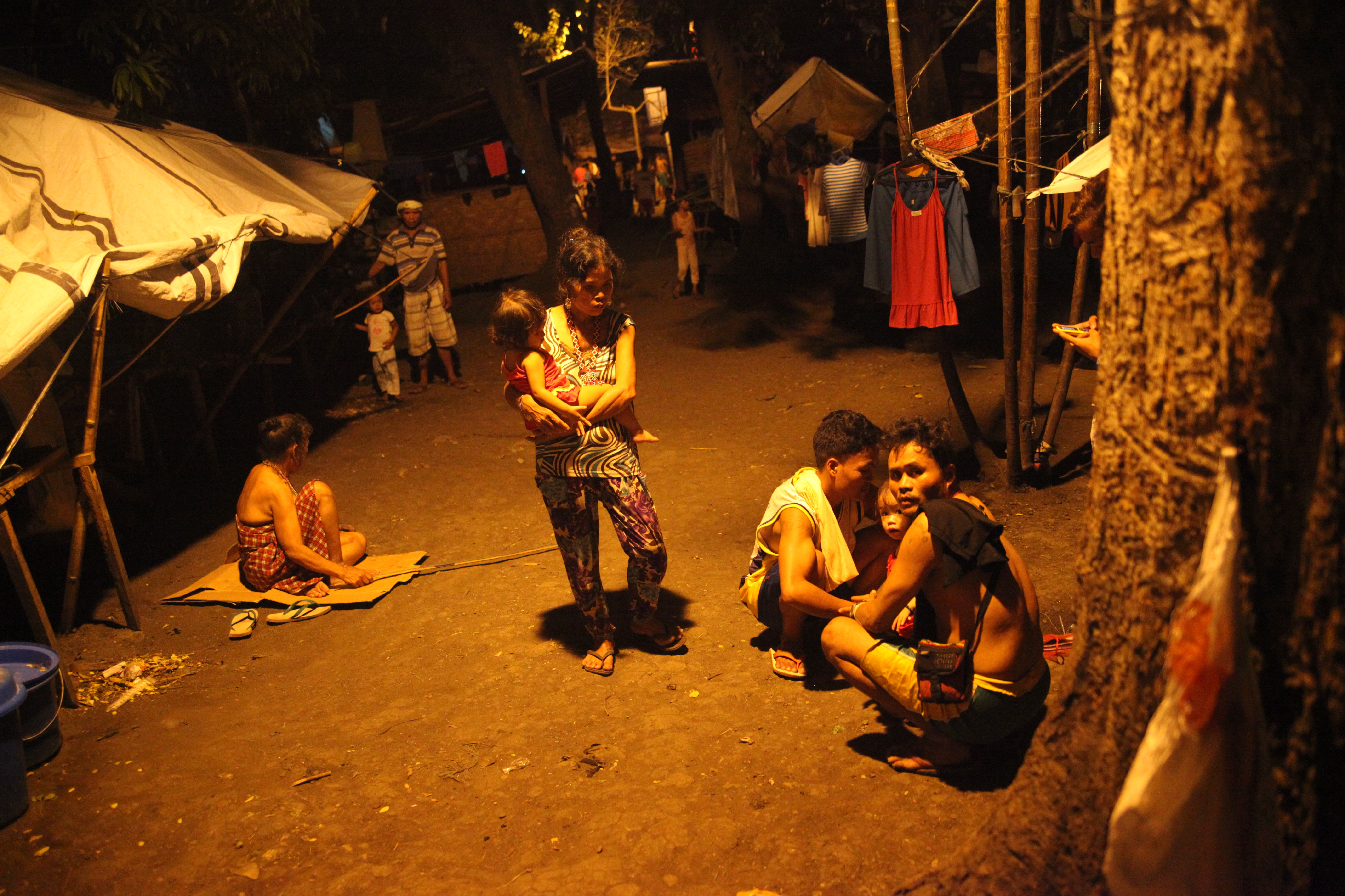 Indigenous people displaced by war between communist insurgents and the Philippines government took refuge at a church compound in Davao City
