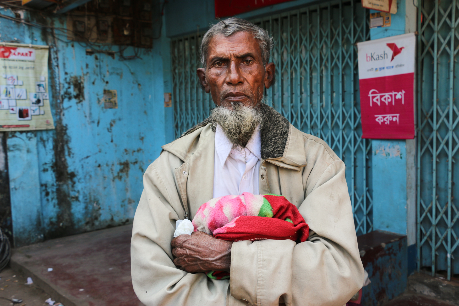Dil Mohammed, 70, fled his village in Rakhine State in January 2018