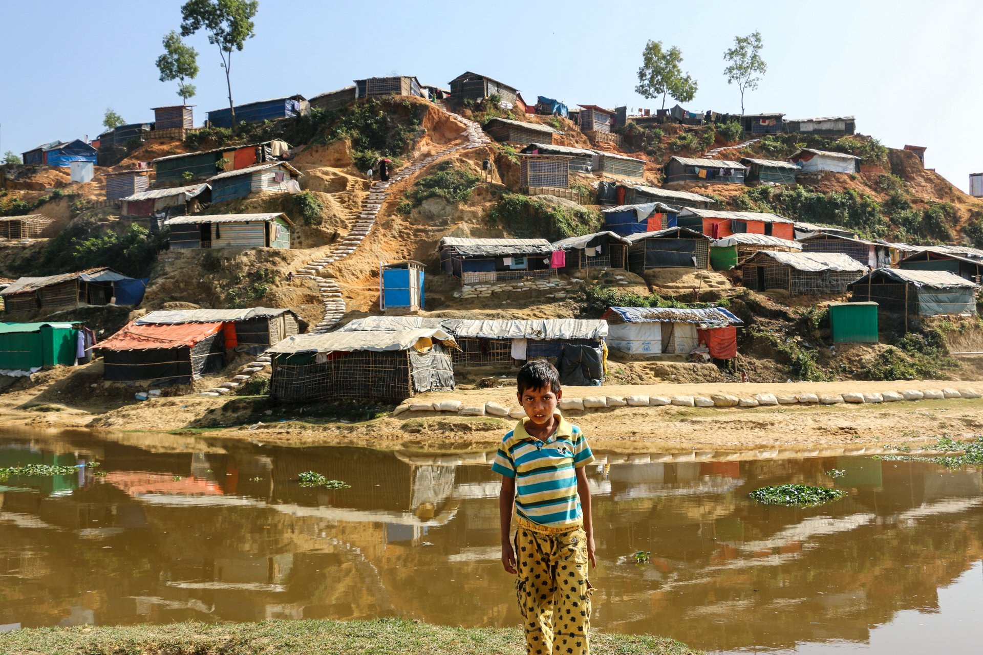 Refugee homes in Cox's Bazar, Bangladesh