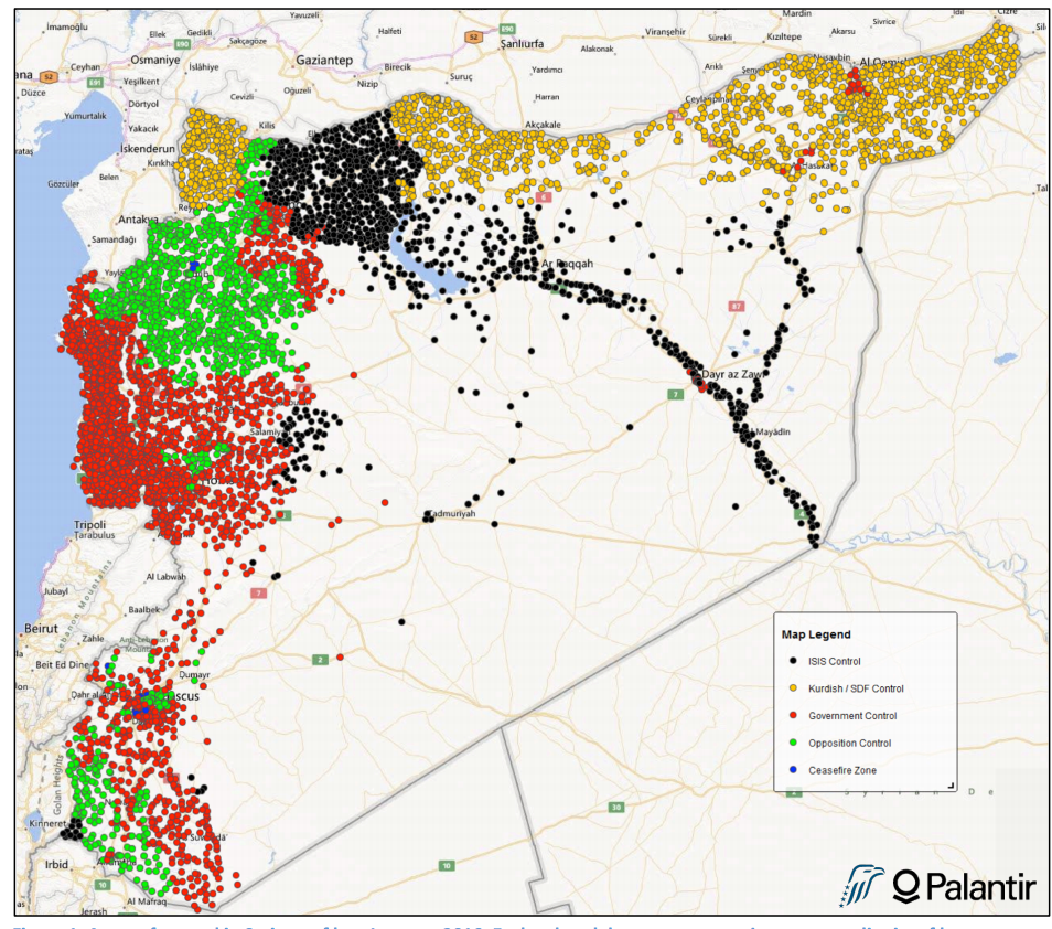 Map of the Syrian conflict