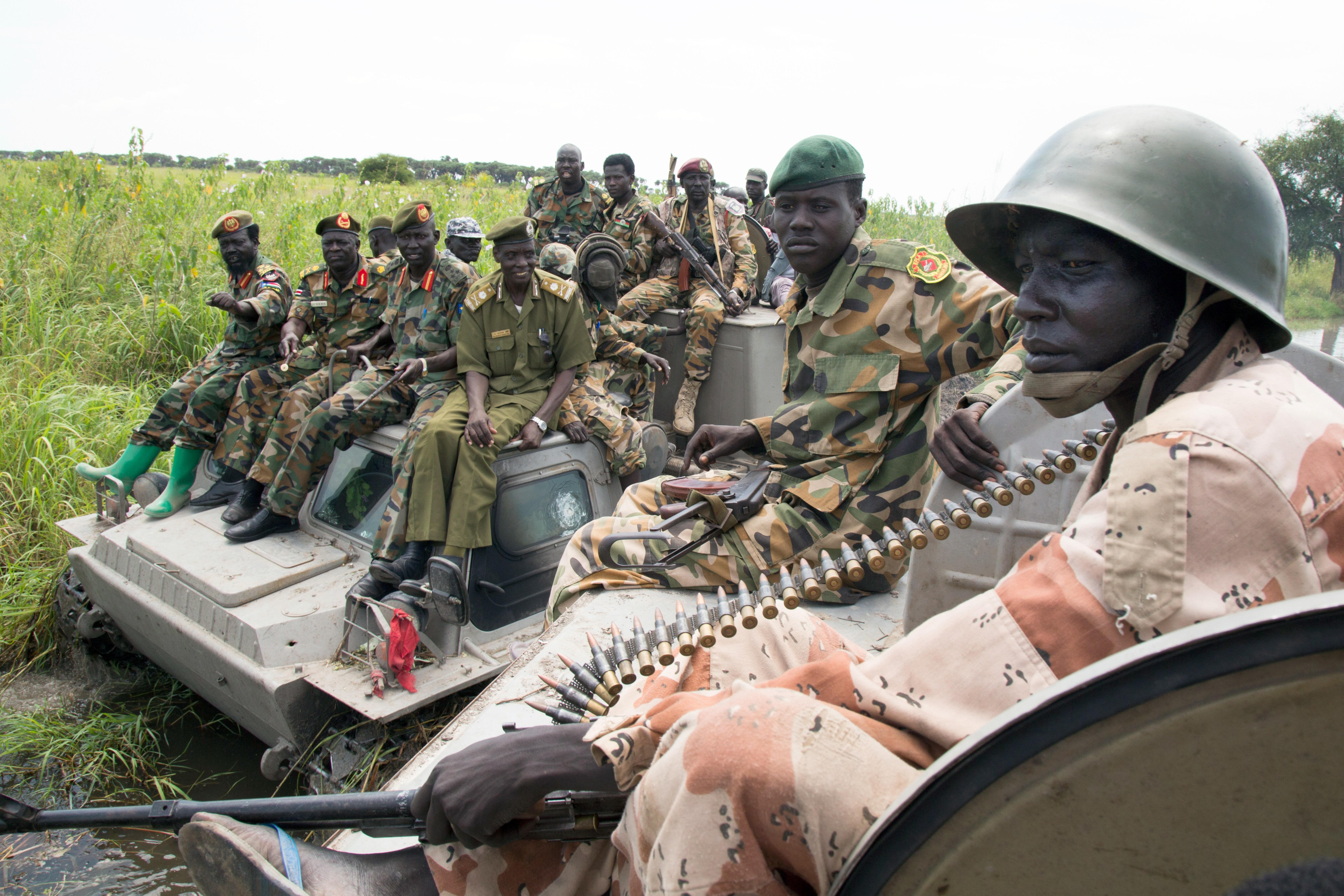 SPLA troops advance
