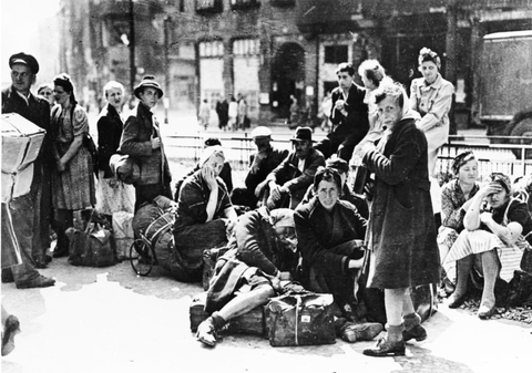 Refugees in Berlin, 1945