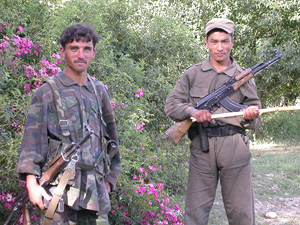 [Afghanistan] Two members of the governor-led eradication teams in Badakshan.