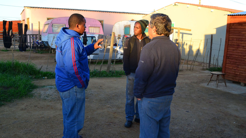 David Elliott, Renier Louw and Mike Abrams, are all involved in projects to address high rates of alcohol abuse, boredom and frustration among the youth of Bredasdorp, a small town in South Africa's Western Cape Province