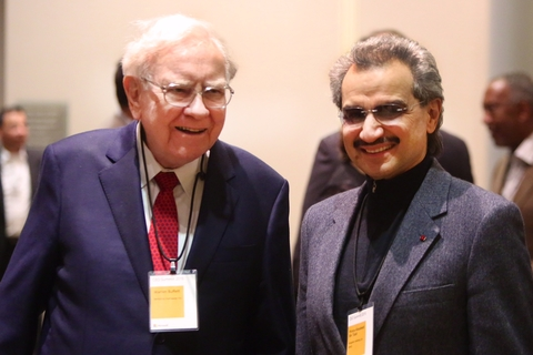 Prince Alwaleed Bin Talal meeting Warren Buffet
