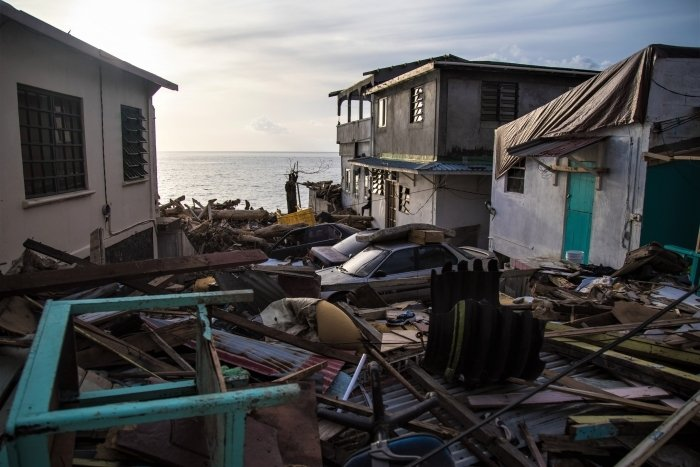 Image of Hurricane Maria damage in Dominica