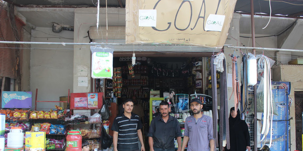 A shop in northern Syria involved in Irish charity GOAL's food voucher operation
