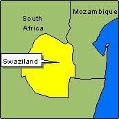 Country Map - Swaziland