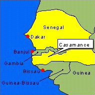 Country Map - Senegal (Casamance)