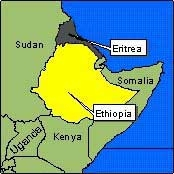 Country Map - Eritrea, Ethiopia