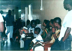 [GHANA] Accra:Patients waiting to see the Doctor at the La Polyclinic Accra1.