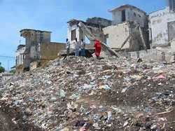 [Somalia] Mounds of rubbish can reach as high as 10 metres.