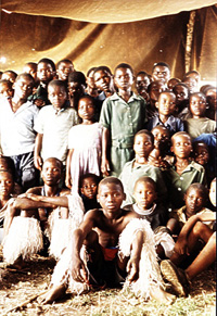 [SWAZILAND] Singing troupe made up of orphans and vulnerable children from the Lubombo region of eastern Swaziland.
