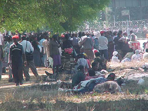 [ZIMBABWE] Zimbabweans queue for visas.