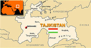 Tajikistan country map