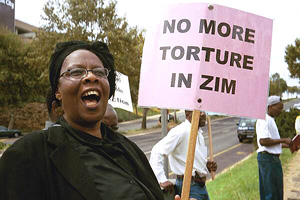 [Zimbabwe] Demo in Sandton on Human Rights day 23 March (Sekai Holland).