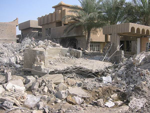 [Iraq] Destroyed houses in Fallujah following fighting between US troops and insurgents.